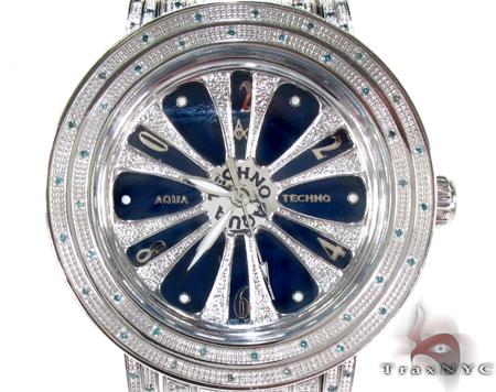 Aqua Techno Speeding Blue Color Dial with Blue Color Diamond Watch Aqua Techno