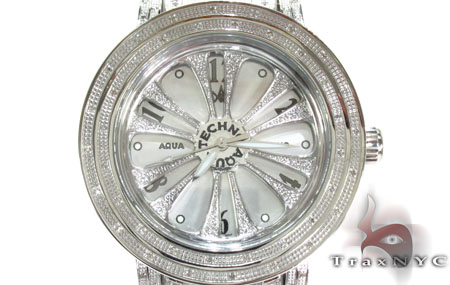 Aqua Techno Speeding White Color Dial with White Color Diamond Watch Aqua Techno