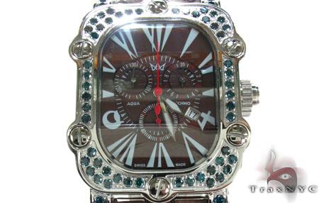 Aqua Techno Stainless Steel Blue Color Diamond Watch Aqua Techno