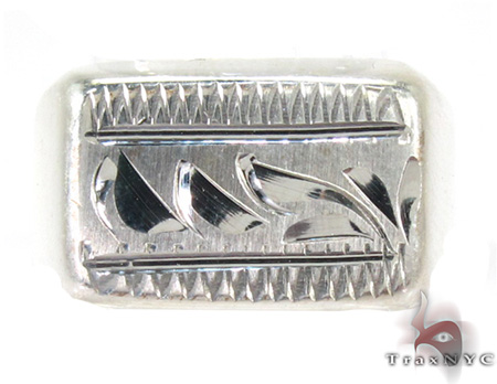 Mens Cheap Autumn Sterling Silver Ring Metal