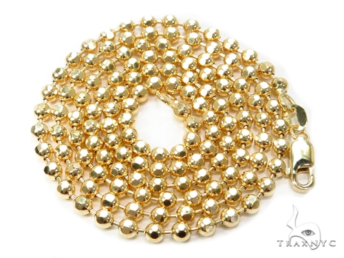 Ball Gold Diamond Cut Chain 22 Inches 3mm 13.2 Grams 40981 Gold