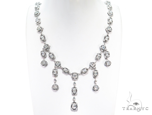 Baloo Prong Diamond Earrings & Necklace Set 43813 Diamond