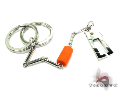Baraka BK-UP Stainless Steel Key Chain PO50124 Metal