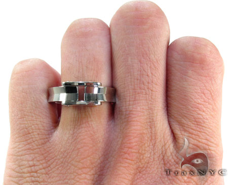 Mens Cheap Baraka BK-UP Stainless Steel Ring Metal