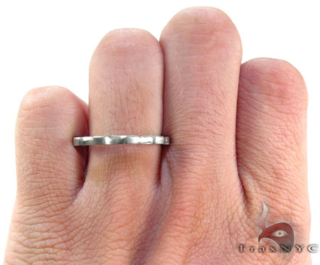 Mens Cheap Mountain Up Down Stainless Steel Ring Metal