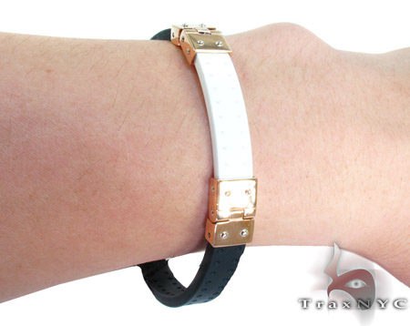 Baraka Gold and High Tech Ceramic Bracelet BR21366 Gold