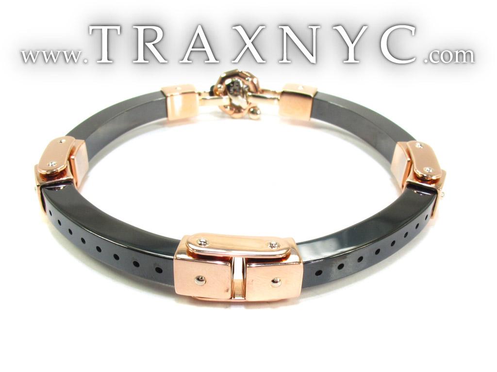 baraka gold with high tech ceramic bracelet