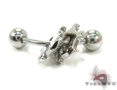 Baraka Stainless Steel Piercing PG50113 Stainless Steel Earrings