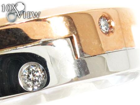 Baraka Two Tone Gold Diamond Ring AN29532 Style