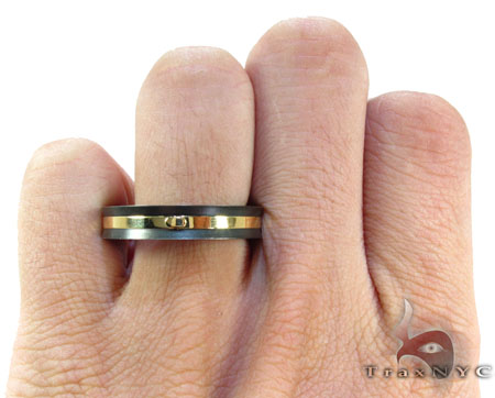 Mens Affordable Black Baraka Stainless Steel Ring Metal