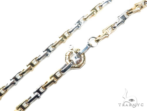 Bezel Diamond Bullet Gold Chain 41229 Gold