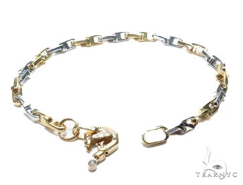 Bezel Diamond Gold Bracelet 41226 Gold