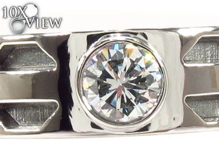 Bezel Diamond Platinum Ring 32218 Stone