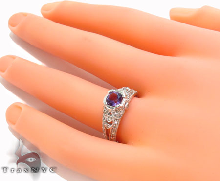 Bezel Amethyst & Diamond Ring 29230 Anniversary/Fashion