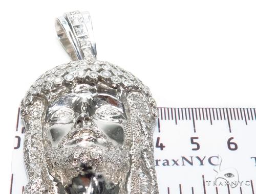 Bezel Diamond Silver Jesus Piece 40828 Style