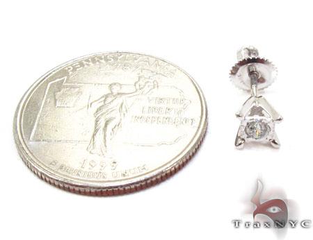 Bezel Single Diamond Earrings 26062 Stone