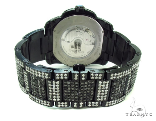 Black Calibre De Cartier Diamond Watch Cartier