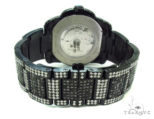 Black Calibre De Cartier Diamond Watch Cartier