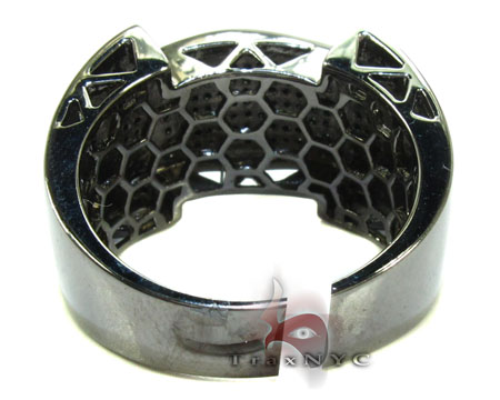Black Castle Silver Diamond Ring 26096 Metal
