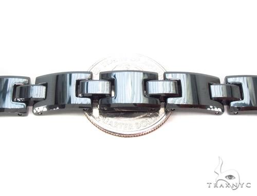 Black Ceramic and Stainless Steel Bracelet Stainless Steel