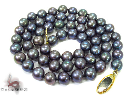 Black Color Pearl Necklace 32250 Pearl