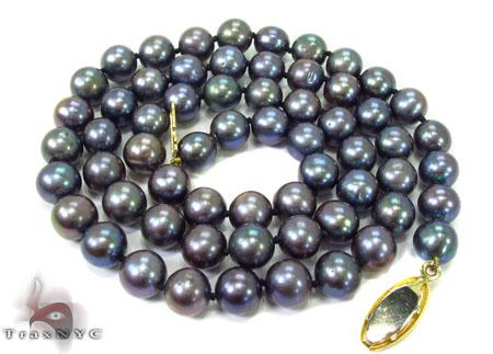 Black Color Pearl Necklace 32250 Pearl
