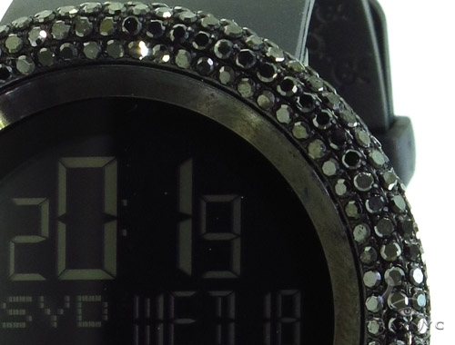 Black Diamond Bezel Digital 114 I-Gucci Watch YA114202 Gucci
