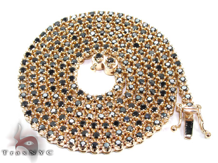 Black Diamond Chain 30 Inches 4mm 44.9 Grams Diamond Chains