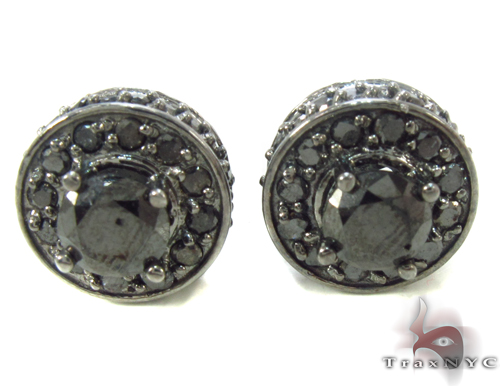 Black Diamond Earrings 34038 Stone