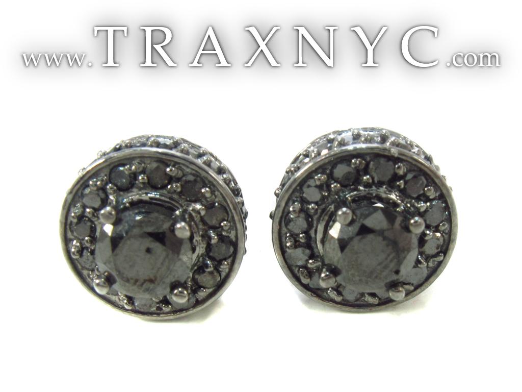 Black Diamond Earrings Black Diamond Earrings for Men Gold 14k