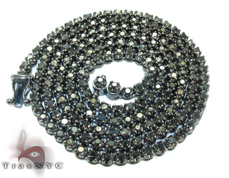 Black Diamond Polar Iced Chain 32 Inches 4mm 49.3 Grams Diamond