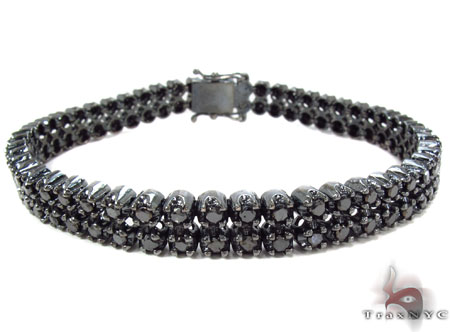 Black Diamond Prong Bracelet Diamond