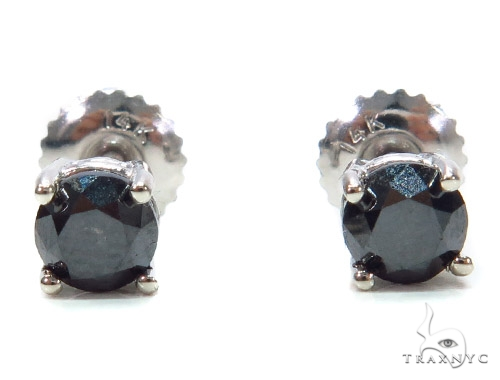 Black Diamond Sterling Silver Stud Earrings 42540 Metal