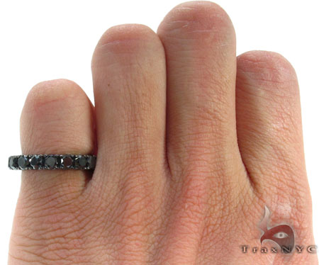 Black Diamond Eternity Wedding Ring Stone