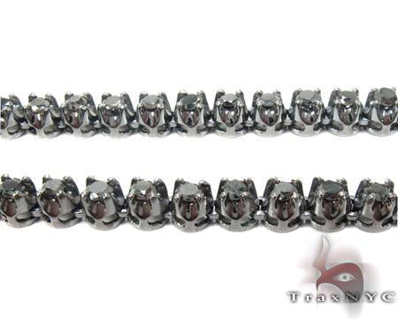 Black Gold Black Diamond Chain 26 Inches, 5mm, 52.8 Grams Diamond