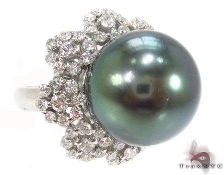 Black Pearl Diamond Ring 32668 真珠 ダイヤモンド リング
