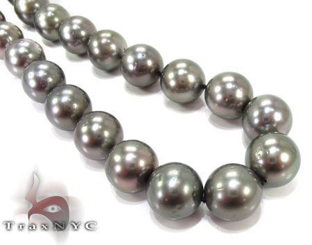 Black Pearl Ladies Necklace 27350 Pearl