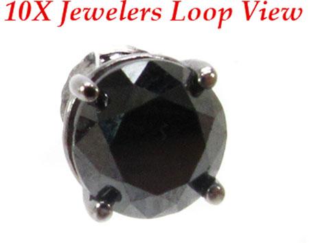 Black Prong Diamond Stud Earrings 20734 Style
