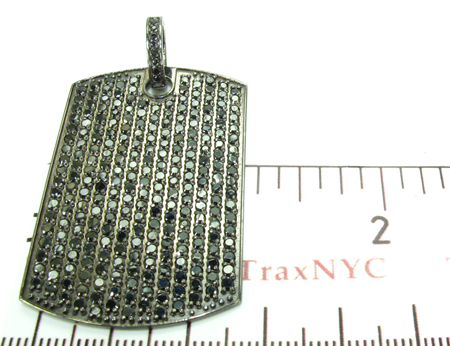 Black Prong Diamond with Black Gold Dog Tag Style
