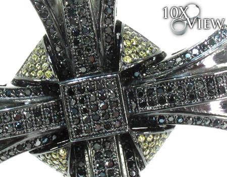 Black Rhodium Silver Cross Silver