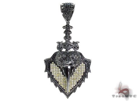 Black Rhodium Silver Pendant Metal