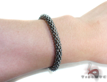 Black Silver Bracelet Silver