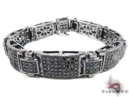 Black Silver Link Bracelet Silver