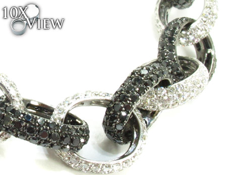 Black and White Diamond Bracelet 28320 Diamond