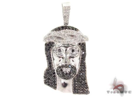 Black and White Diamond Silver Jesus Style
