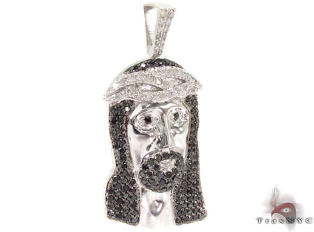 Black and White Diamond Silver Jesus Style