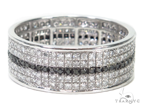 Black and White Full Diamond Couple Ring 40750 Wedding