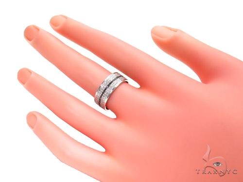 Black and White Full Diamond Couple Ring 40750 Wedding