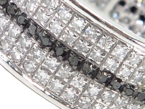 Black and White Full Diamond Couple Ring 40751 Style