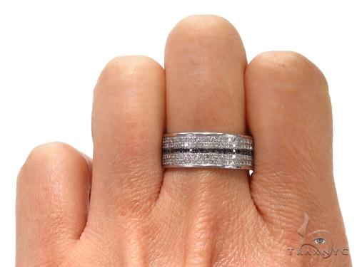 Black and White Full Diamond Couple Ring 40751 Style